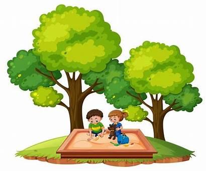 Pit Sand Children Sandkasten Kinder Playground Clipart