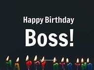 Happy Birthday Wishes Boss