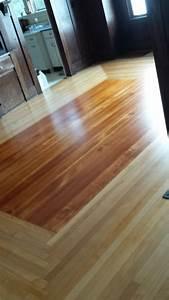 log cabin style maple floor w a fir center hardwood With hardwood floor refinishing portland