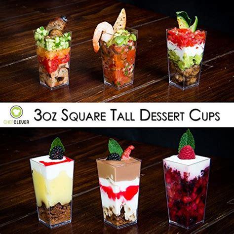 dlux mini dessert cups appetizer bowls spoons