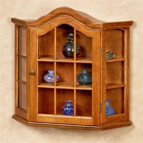 decorative wall curio cabinets andre wooden wall curio cabinet