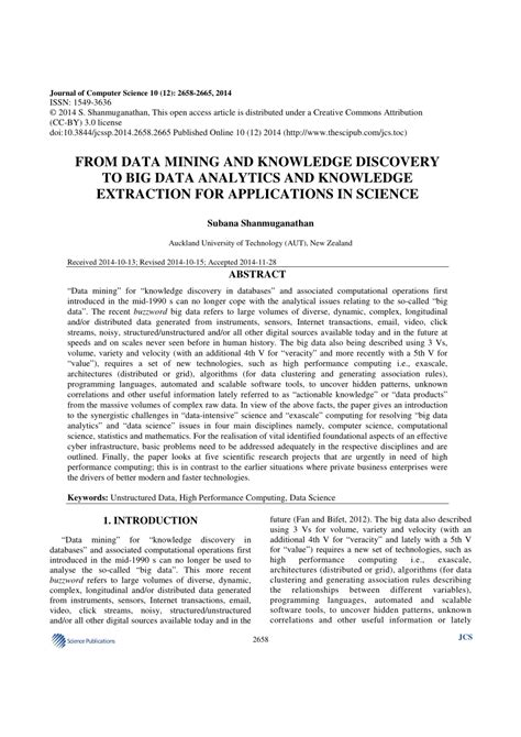(PDF) From data mining and knowledge discovery to big data