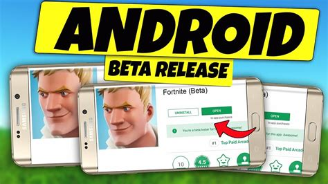 fortnite android beta release date  update