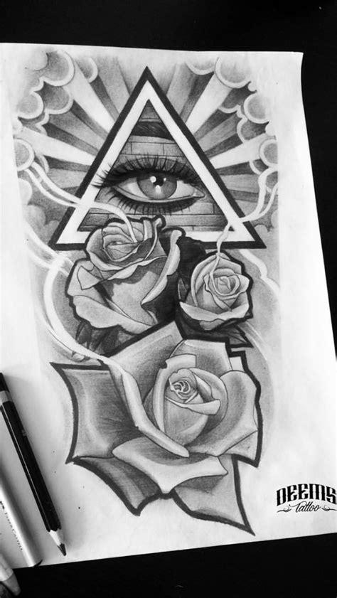 Cool eye inside the triangle. | Tattoos, Tattoo designs, Tattoo drawings