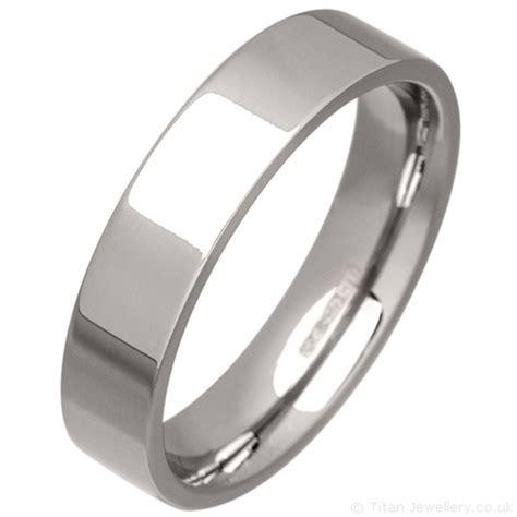 s 5mm palladium 950 flat court wedding ring