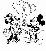 Minnie Mouse Coloring Birthday sketch template
