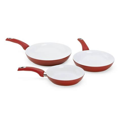 pcs forged aluminum frying pan set  healthy durable ceramic coating
