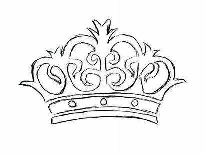 Crown Coloring Princess Queen King Pages Sketch