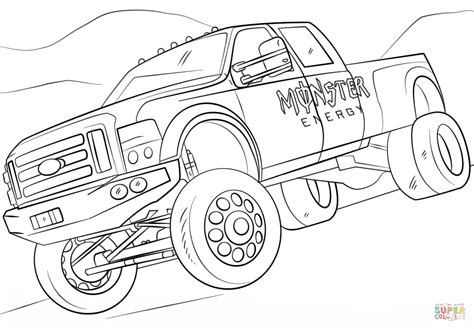 monster energy monster truck coloring page  printable coloring pages