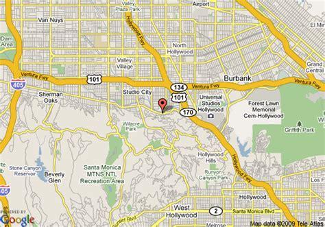 map of el patio inn studio city studio city