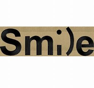 Smile Word as art Embroidery Design Font not included
