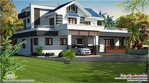 Modern 4 bedroom villa design - Kerala home design and