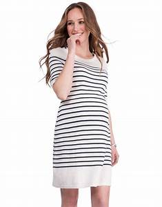 knitted cotton maternity nursing dress seraphine With robe coton femme