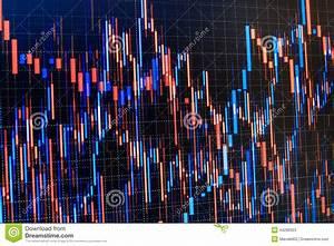 Stock Market Graph  Bar Graphs  Diagrams  Financial Figures  Trading On Market Concept  Closeup