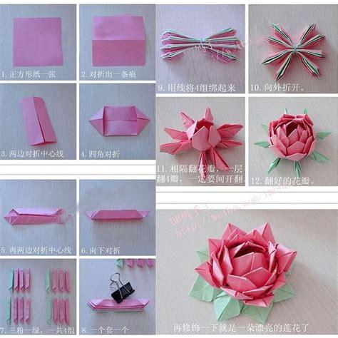 fabrication d une fleur de lotus en papier fleurs en papier ou en tissu lotus and d