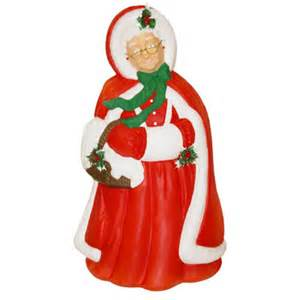 lighted christmas decorations christmas blow molded mrs claus decoration made in usa