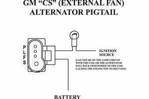 Gm Alternator Wiring Diagram On Delco Remy Cs Alternator