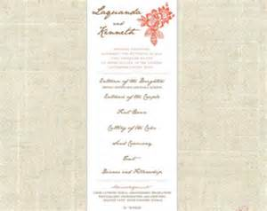 order of wedding reception wedding reception order of events program printable diy