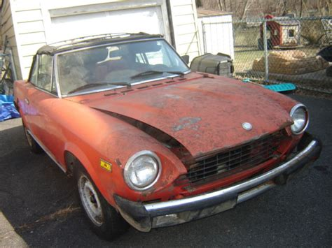 Fiat Spider Parts 1979 fiat 124 spider for parts or restoration