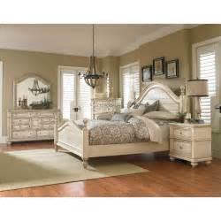 heritage antique white 6 piece queen bedroom set