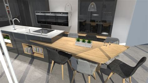 cuisine blanc bois cuisine moderne blanc et bois