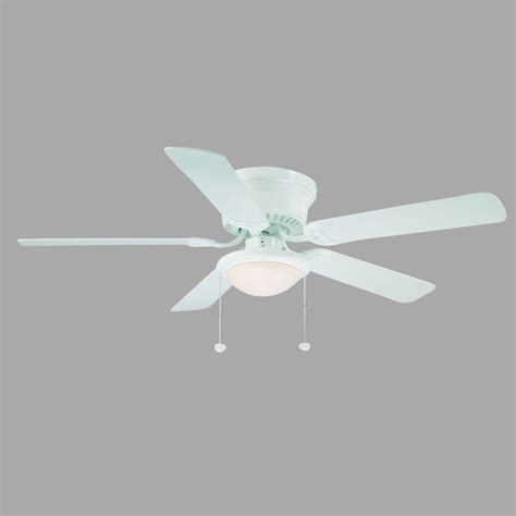 hugger 52 in white ceiling fan al383 wh the home depot