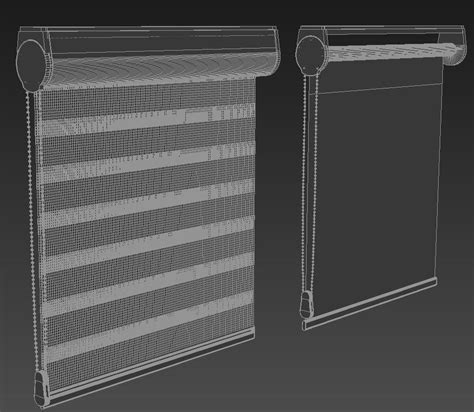 store curtain blinds 3d model max obj cgtrader