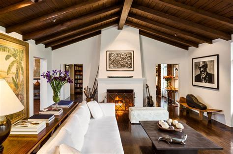 Spanish Colonial Revival Hacienda   Mediterranean   Living