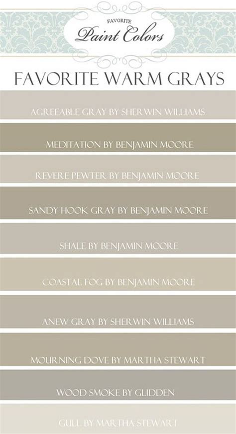 paint color palette warm grays agreeable gray by sherwin