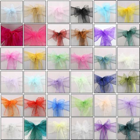 100 organza chair covers wider sashes fuller bows anniversary party decoration ebay