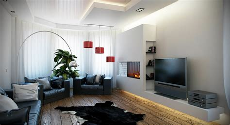 Black White And Red Living Room Ideas by Black White Red Living Room Interior Design Ideas