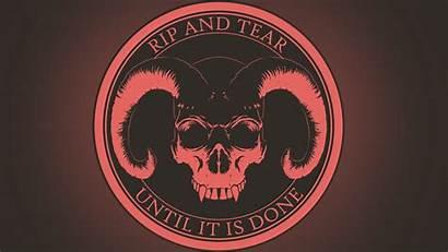 Skull Evil Demon Doom Horns Satanic Pentagram