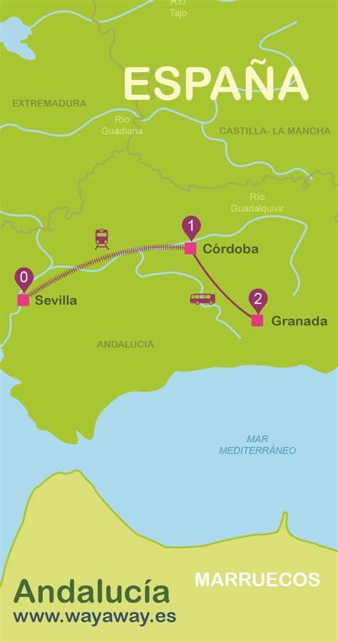 lade da barca mapa de andaluc 237 a plano con rutas tur 237 sticas