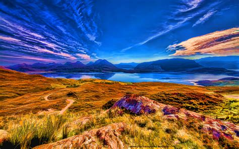 loch torridon  mountains beautiful desktop wallpaper