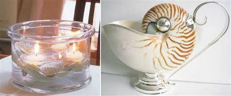 sea shell crafts  unique table centerpiece ideas