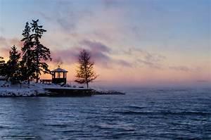 Download wallpaper Sweden, winter, lake, arbor free ...