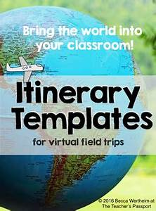 Passport Template For Students Itinerary Templates For Virtual Field Trips By The Teacher