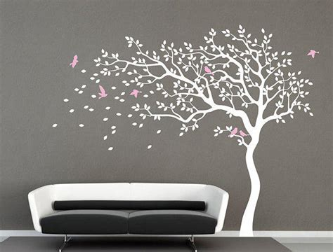 White Tree Wall Decal Nursery Wall Decal From Iwalldecals