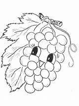 Coloring Pages Grape Grapes Fruits Printable Recommended Mycoloring sketch template