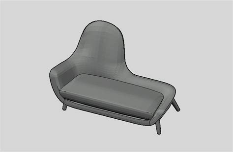chaise dwg bim models armchairs poliform day systems