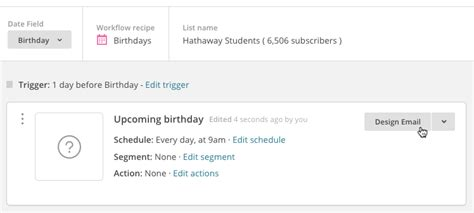 Create Automated Birthday Email