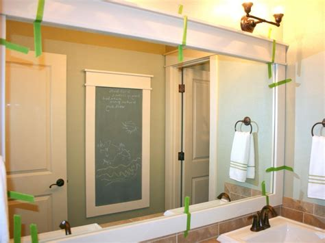 How To Frame Bathroom Mirror With Molding by 20 Inspirations Large Framed Bathroom Wall Mirrors