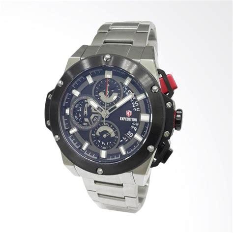 Harga Merk Jam Tangan Expedition jual expedition jam tangan pria silver black 6696