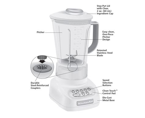 Blender Parts by Kitchenaid 5 Speed Blender With Polycarbonate Jar