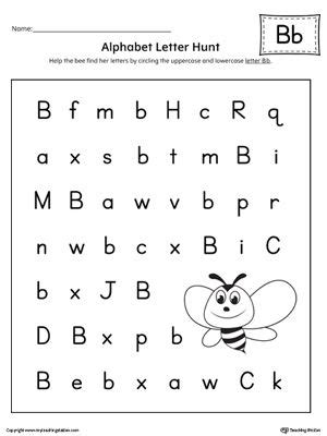 alphabet letter hunt letter  worksheet alphabet letters
