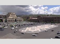 YEREVAN, ARMENIA 23 APRIL 2013 Traffic Drives Across