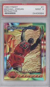 Job Size Chart 1993 94 Topps Finest Base Refractor 1 Michael