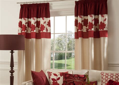 Red Curtains For Large Living Room Windows