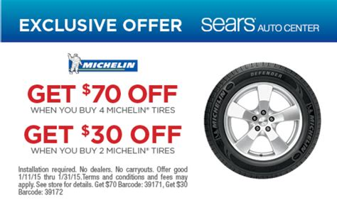 sears michelin tires