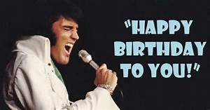 "Elvis Sings ""Happy Birthday to You"" on Stage"